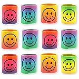 12x Spirale Spielzeug für Jungen und Mädchen Geburtstag / Kindergeburtstag / Mitgebsel / Smiley Spiralen / Giveaway / Mitbringspiel / Mitbringsel / Smiley Regenbogen Spirale Paket von Party Pack™