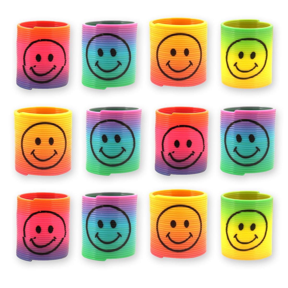 Kindergeburtstag Gastgeschenke Smiley Regenbogen Spiralen Paket von Party Pack/™ 12x Spirale Spielzeug f// f/ür Kinder-Geburtstag Jungen und M/ädchen Mitgebsel