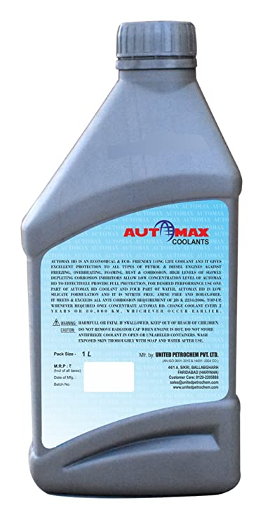 Automax HD Anti-Freeze Coolant for Cooling System (1 Liters)