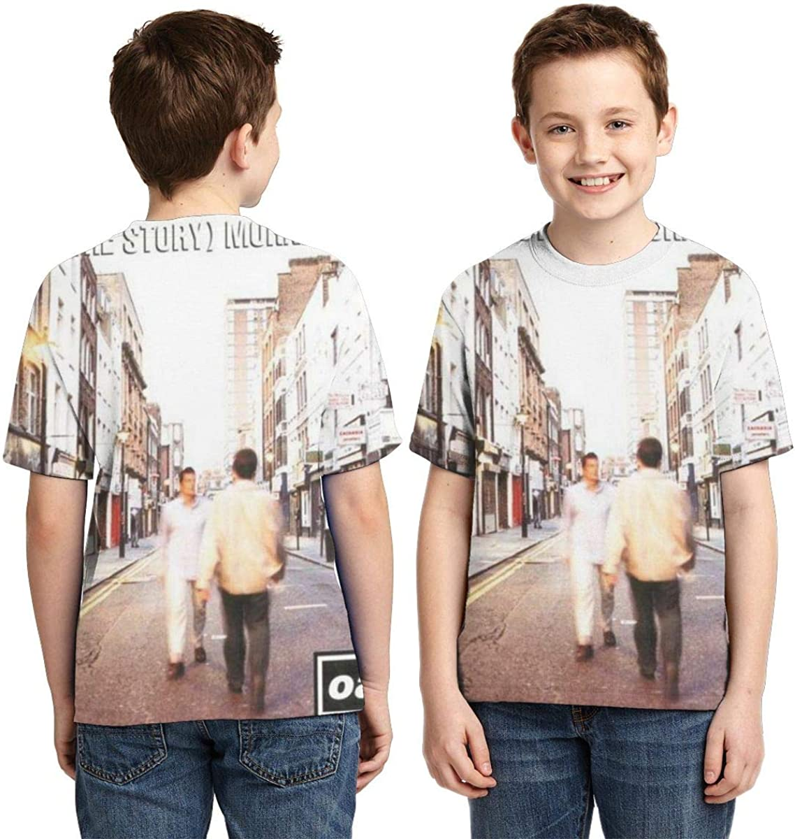 BowersJ Childs Oasis What/â/€s The Story Morning Glory Design 3D Printed Short Sleeve Tshirt for Girls /& Boys Black