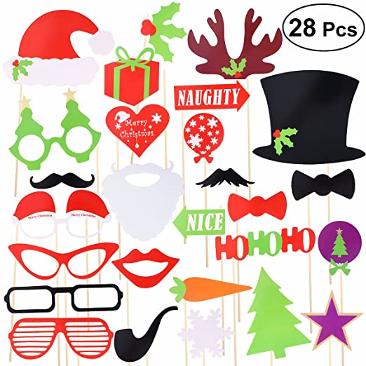 OULII Navidad de DIY Photo Booth Accesorios Photocall para ...