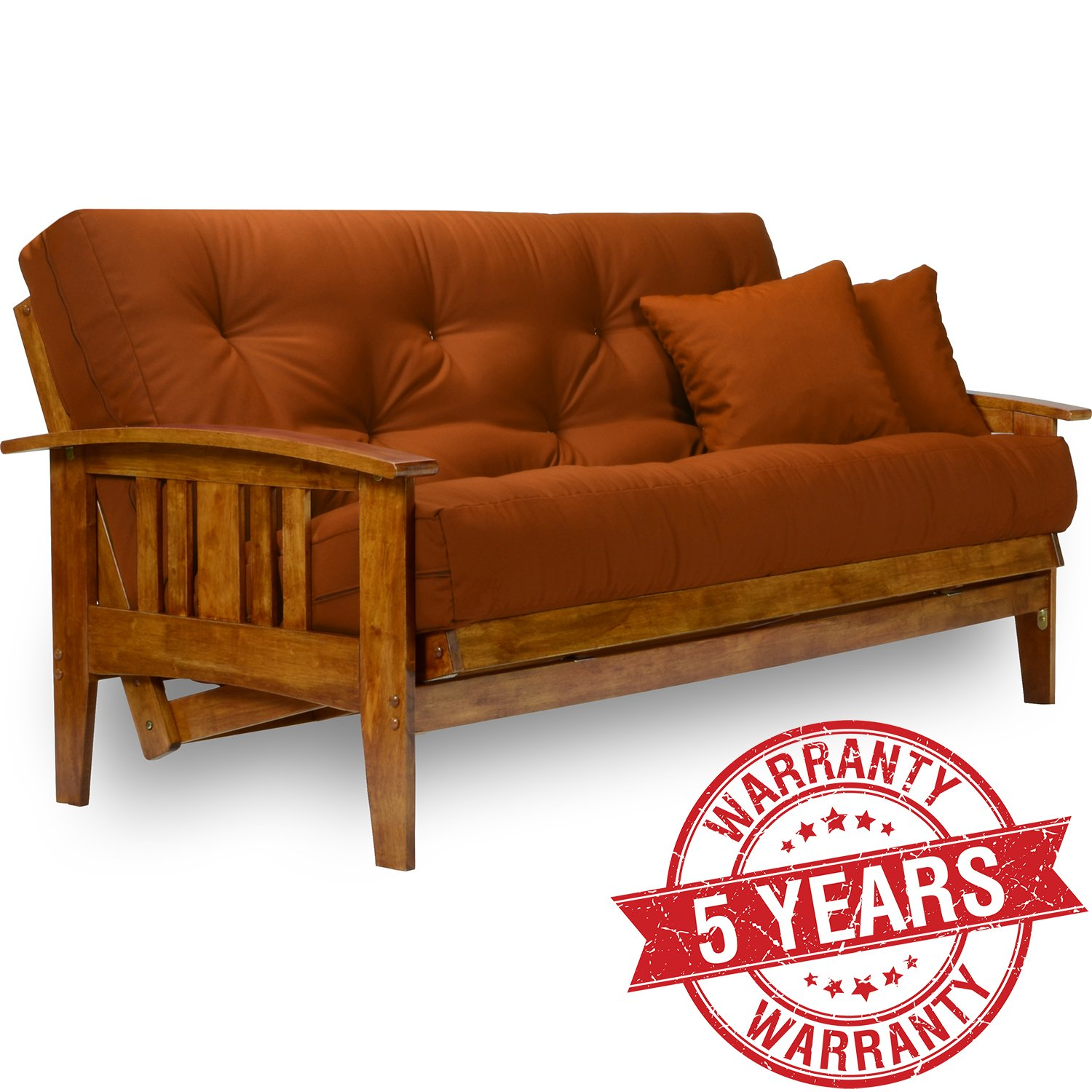 Medium image of westfield wood futon frame   full size