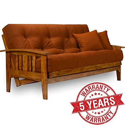 Amazon.com: Nirvana Futons Westfield Wood Futon Frame - Full Size ...