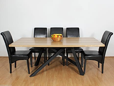 Tavolo In Legno Rustico Moderno.Grande Alberto Moderno Chic Rustico Metallo E Legno Tavolo