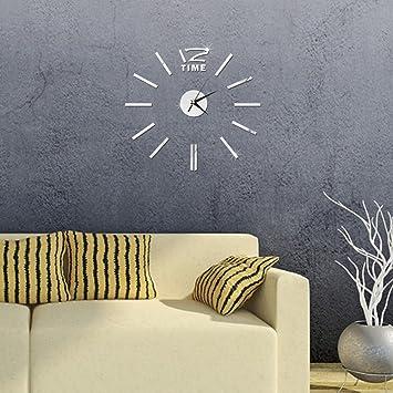 Ceanfly Diy 3d Wanduhr Modern Design Acryl Wanduhren Spiegel Metall