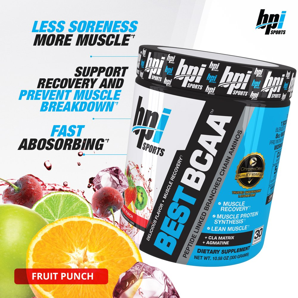 BPI Sports Best BCAA Powder, Fruit Punch, 10.58 Ounce by BPI Sports (Image #4)