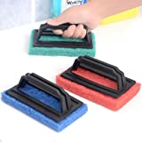 House of Quirk 3Pc Tile Scrubber Floor Glass Brush(Color As Per Availability)