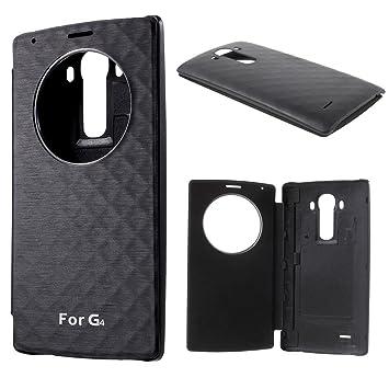 FUNDA FLIP COVER ventana Quick Circle para LG G4 tapa trasera, sin funcion NFC