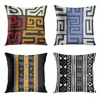 Amazon.com: ArtSocket - Juego de 4 fundas de almohada para ...