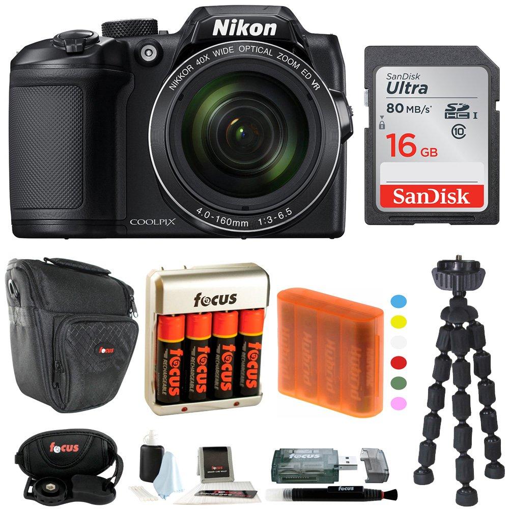 Nikon COOLPIX B500 Digital Camera w/ Sony 16GB Memory Card & Secure Digital Reader USB Accessory Bundle