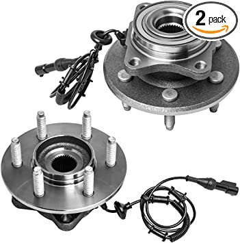 Pair 6 Lug W//ABS Rear Wheel Hub and Bearing Assembly Left or Right Compatible Ford Expedition Lincoln Navigator AUQDD 541001 x2
