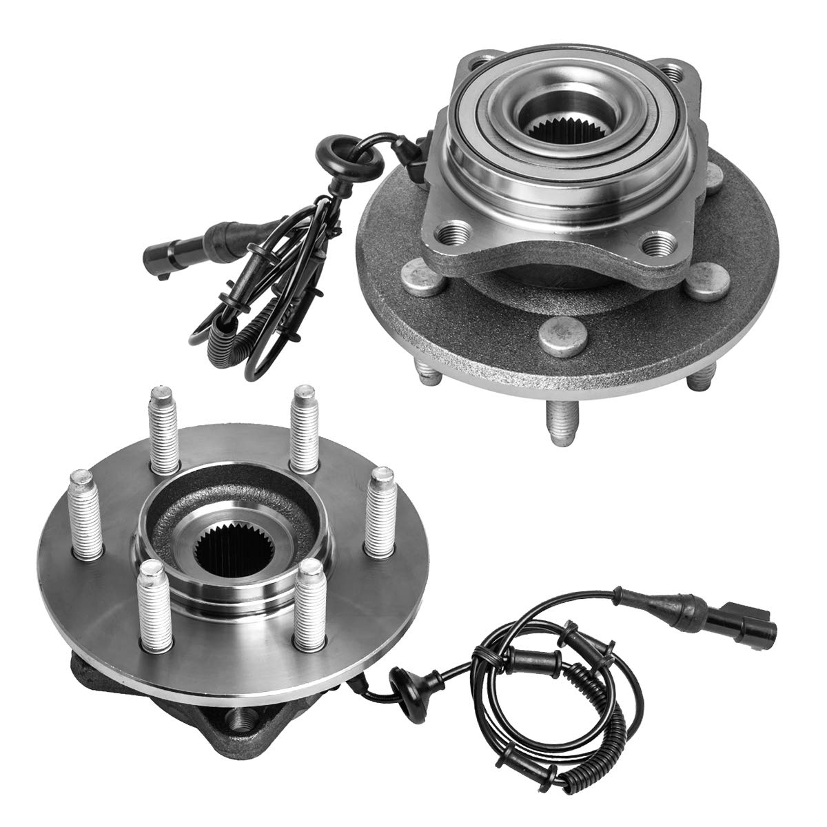 Rear Wheel Hub and Bearing Assembly Left or Right Compatible Ford Expedition Lincoln Navigator AUQDD 541001 x2 (Pair) [ 6 Lug W/ABS ]