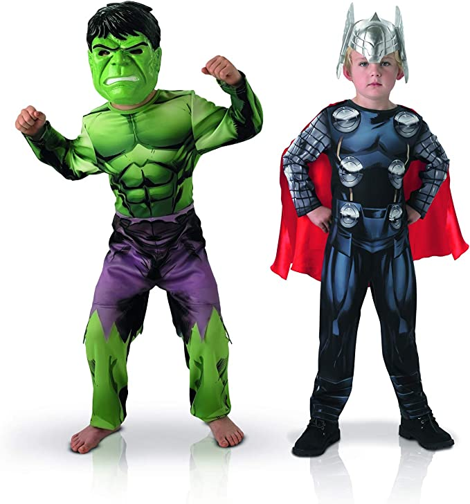 Rubies-bi Pack Classic Asamblea Hulk + Thor, Boys, 155039 M, M ...