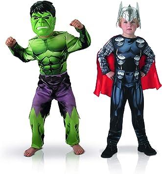 Rubies – Bi Pack Classic Assemblee Hulk + Thor, 155039s, S: Amazon ...