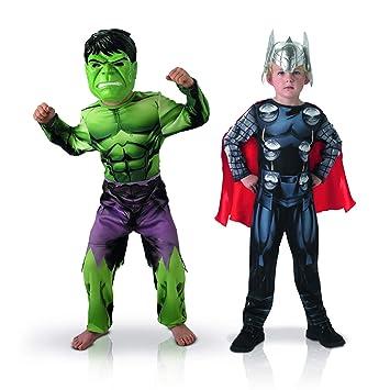 Rubies-bi Pack Classic Asamblea Hulk + Thor, Boys, 155039 M, M