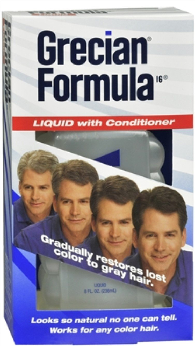 GRECIAN Formula 16 Liquid With Conditioner 8 oz (Pack of 8)