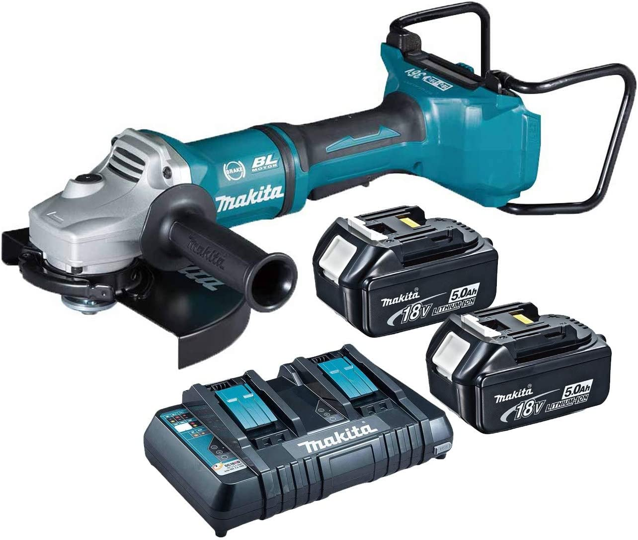 valise Makita Batterie-angle meuleuse dga900zkx2 dga900 2x18v 36 V 230 mm Ezynut