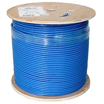 Amazon.com: Vertical Cable Cat6A 10G, UTP, 23AWG, Solid Bare Copper, PVC, 1000ft, Blue, Bulk Ethernet Cable: Computers & Accessories