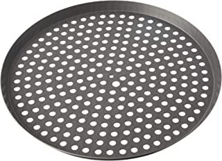 product image for LloydPans Lloyd Perforated, Pre-Seasoned PSTK, Anodized Aluminum, 14 inch Pizza Cutter Pan, 14 inchesx.75, Dark Gray