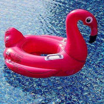 Asenart ® bebé inflable nadar barco flotador anillo Floatie montar en Rideable soplar verano divertido piscina juguete flotador jerga para niños (Flamenco ...