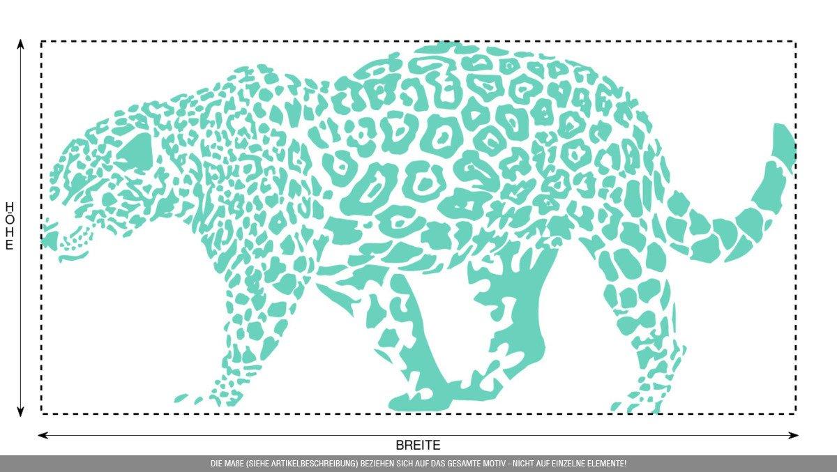 CLICKANDPRINT Aufkleber Aufkleber Aufkleber » Leopard, 150x74,4cm, Türkis • Wandtattoo   Wandaufkleber   Wandsticker   Wanddeko   Vinyl B073X7NDQ3 Wandtattoos & Wandbilder b5812f