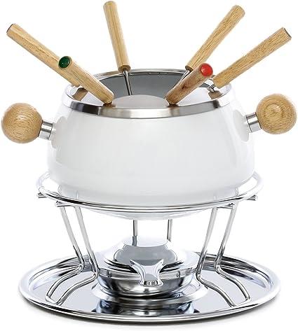 Set de fondue con hornillo de gas integrada, 11 piezas ...
