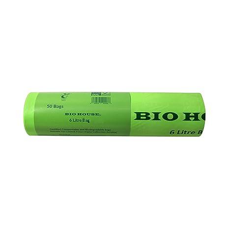 Bio casa - 6 litros x 50 bolsas compostables, biodegradables ...