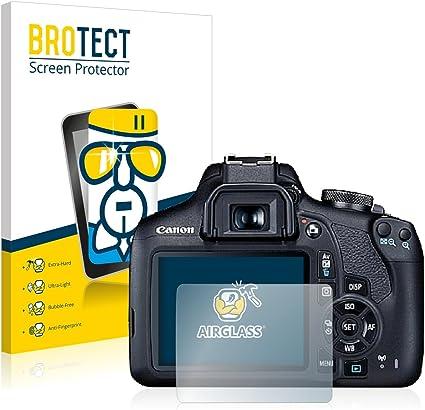 BROTECT Protector Pantalla Cristal Compatible con Canon EOS 2000D ...