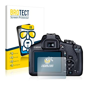 9H BROTECT AirGlass Screen Protector Glass compatible with Canon EOS 2000D