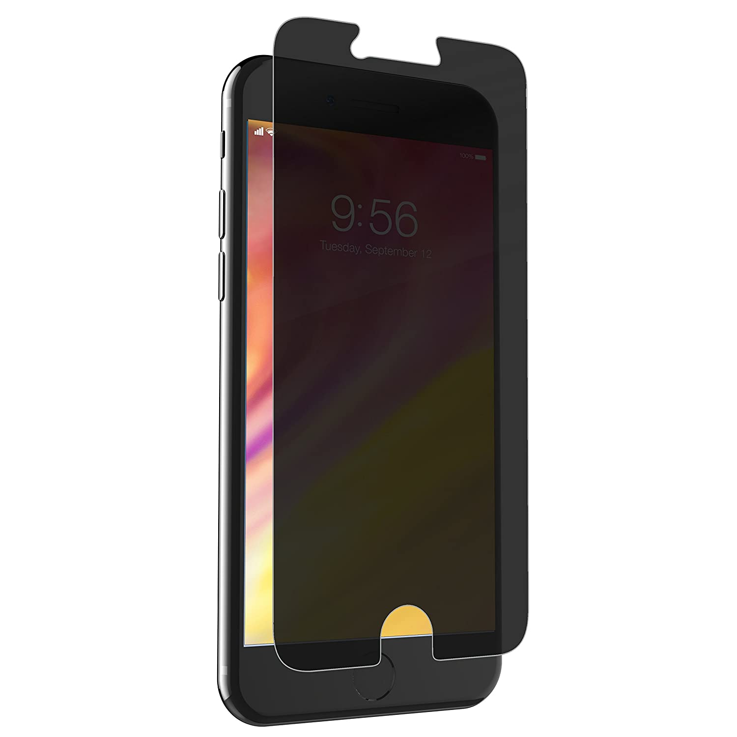 promo code 19111 1707c ZAGG InvisibleShield Glass+ Privacy Screen Protector for Apple iPhone 7,  iPhone 6s, iPhone 6 – 3X Impact Protection