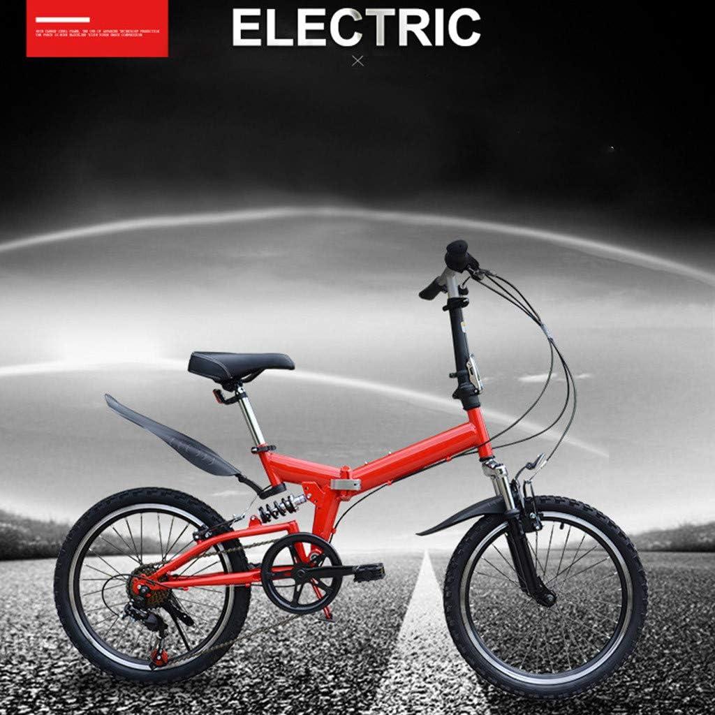 ReooLy Bicicleta de montaña Plegable 20 Pulgadas Bicicleta de ...