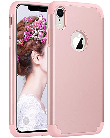 best sneakers f5ac4 58224 ULAK iPhone XR Case for Girls, Slim Fit Hybrid Soft Silicone Hard Back  Cover Anti Scratch Bumper Design Protective Case for Apple iPhone XR 6.1  inch ...