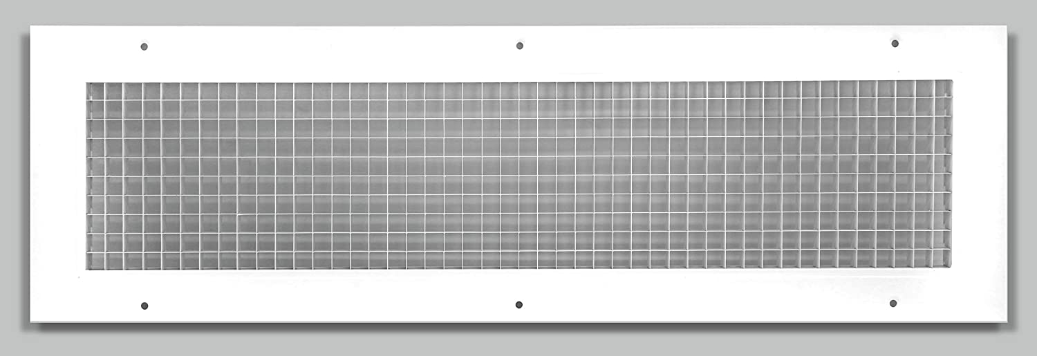 "10"" x 30"" Cube Core Eggcrate Return Air Grille - Aluminum Rust Proof - HVAC Vent Duct Cover - White [Outer Dimensions: 11.75 X 31.75]"
