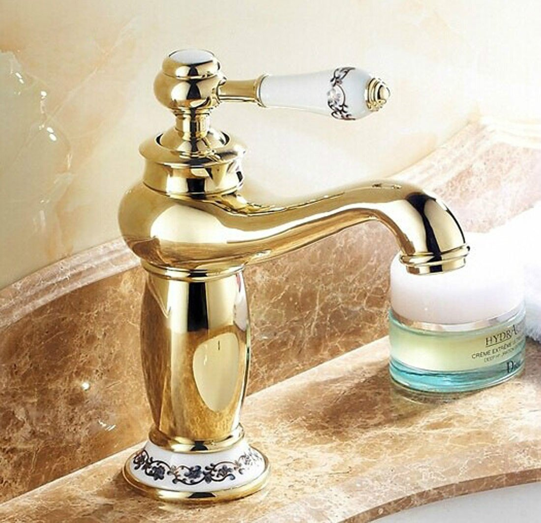 MDRW-Antique Gold Plated faucet, fashion noble basin faucet by MDRW