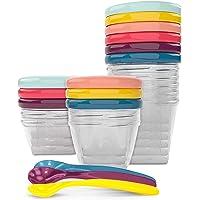 Babymoov Babybols Bewaardoosjes voor Babyvoeding, Multi Set 15-Delig met Flexibele Lepels, Meerkleurig