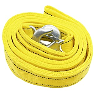 Towing belt,Towing Rope//Towing Road Recovery Strap for Cars Fluorescent 17600Ib 5 Meter With 2 Shackles/&2 Slip-Proof Gloves FREE Carry Case Tech Traders /® Recovery Straps