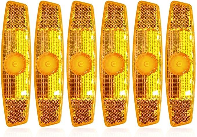 JCstarrie Lot de 6 r/éflecteurs r/éfl/échissants pour Roue de v/élo Blanc//Jaune