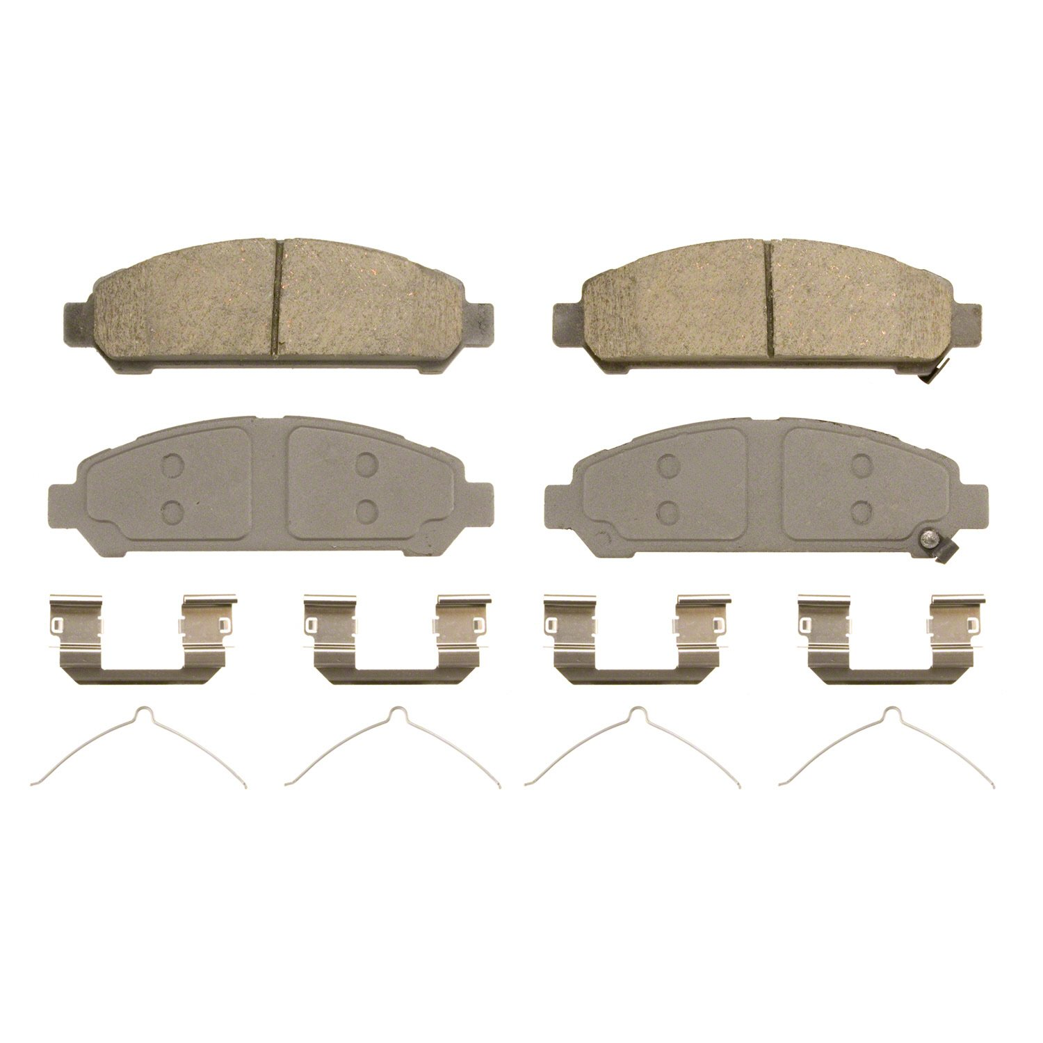 Wagner ThermoQuiet QC1401 Ceramic Disc Pad Set With Installation Hardware Front