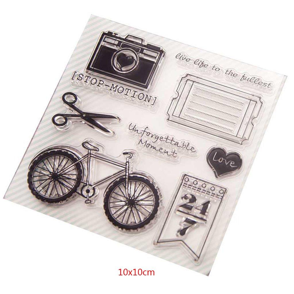 Pfau-klare Silikon-Stempel für DIY Scrapbooking Foto-Album-Dekor X