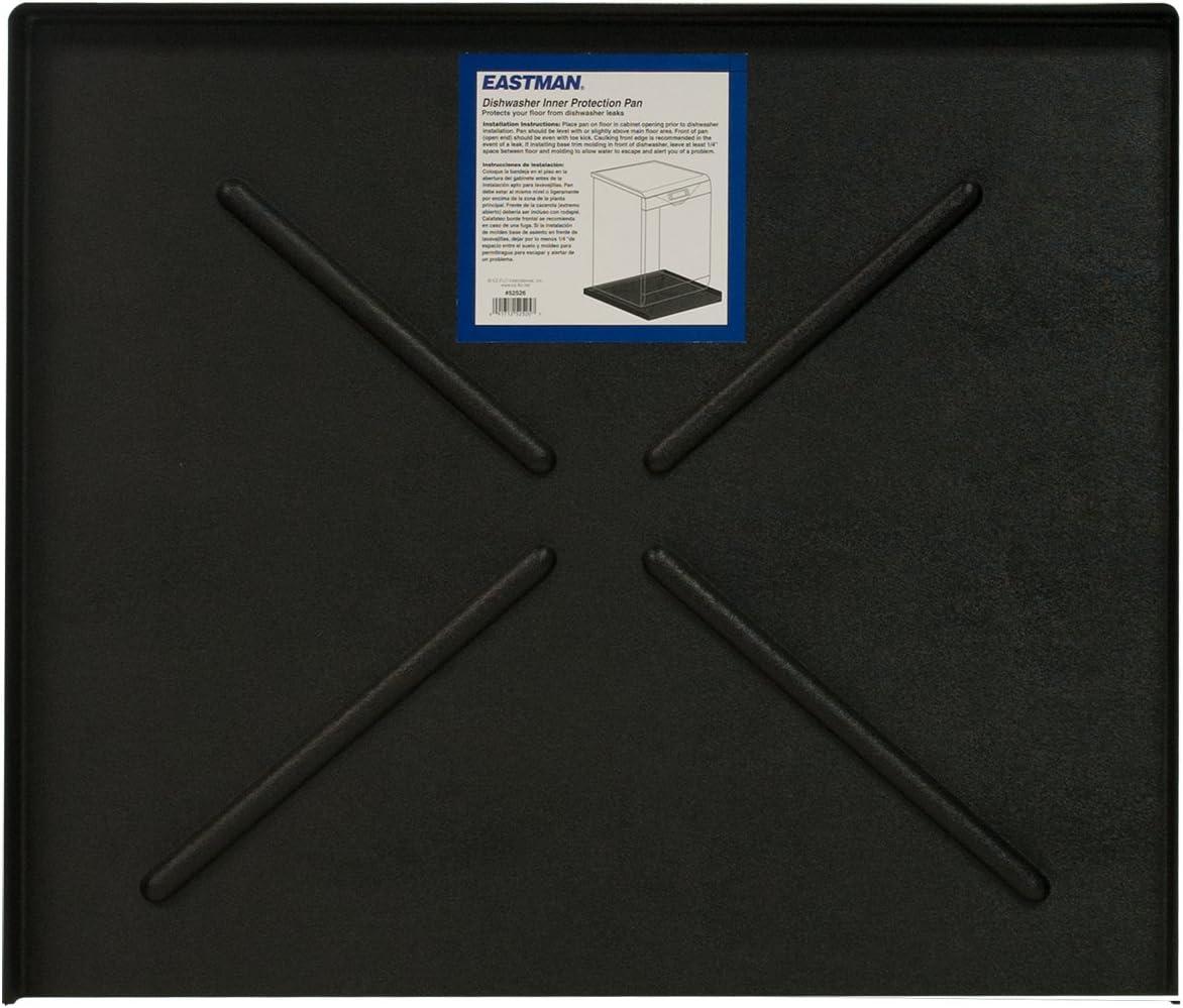 """Eastman 70486 Dishwasher Pan, 24"""" x 20.5"""", Black"""