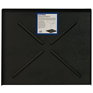 "Eastman EZF70486 70486 Dishwasher Pan, 24.5"" x 20.5"" Black"