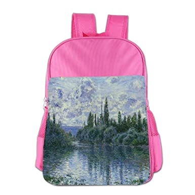 Poddd Gogh Monet Oil Painting Masterpiece Fun For School Outdoor Travel  Hiking Student Backpack a1a3fd4096