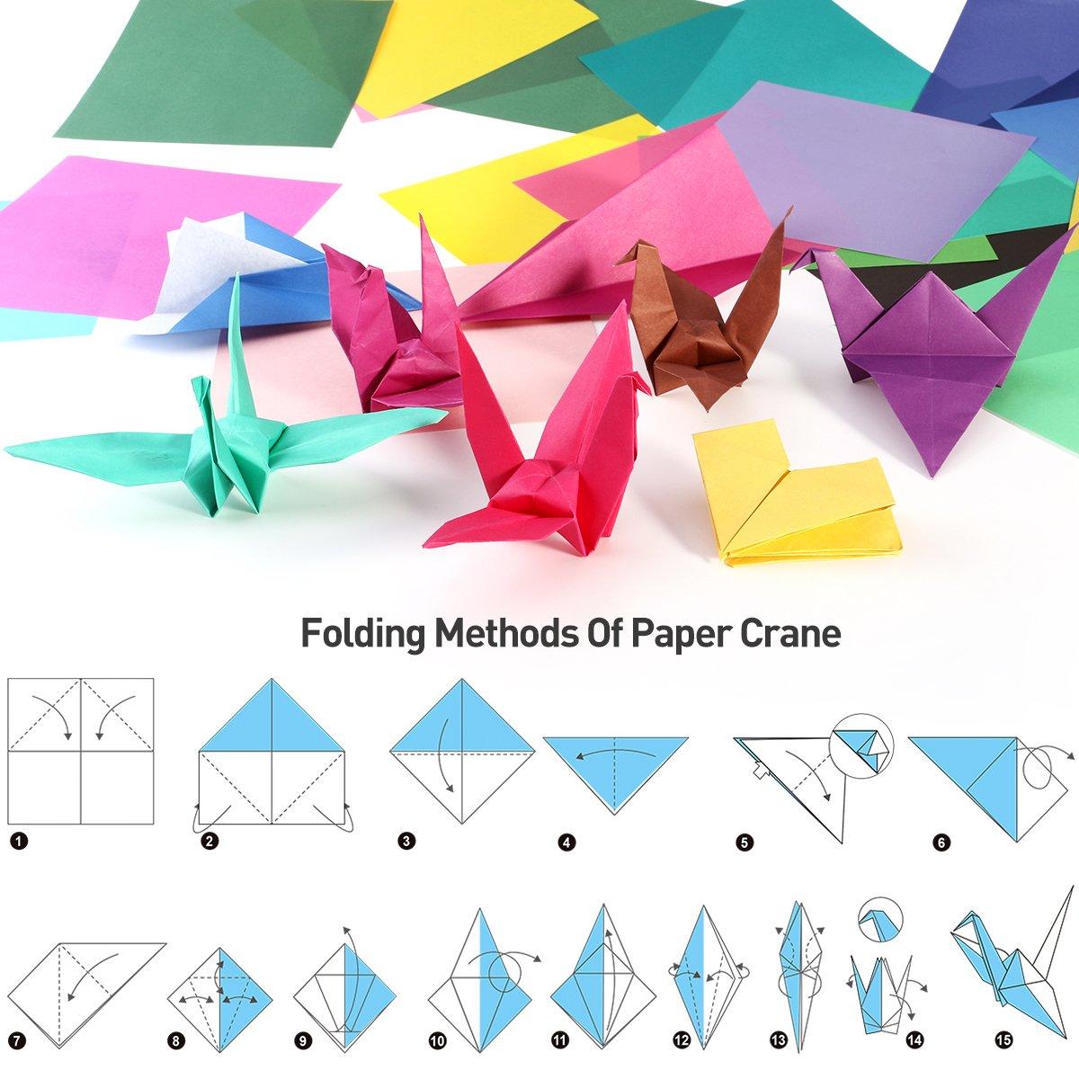 faltpapier Origami Papel 15/x 15/para DIY hecho a mano 200/hojas 50/V/ívida Color