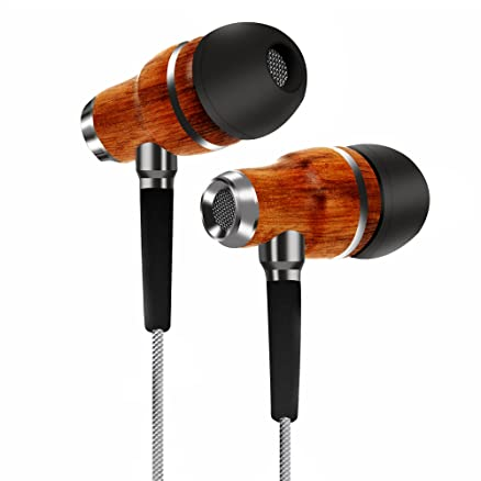 Image result for TAGG Symphony X-150 In-Ear Headphones with Mic || Earphones Handcrafted with Genuine Wood