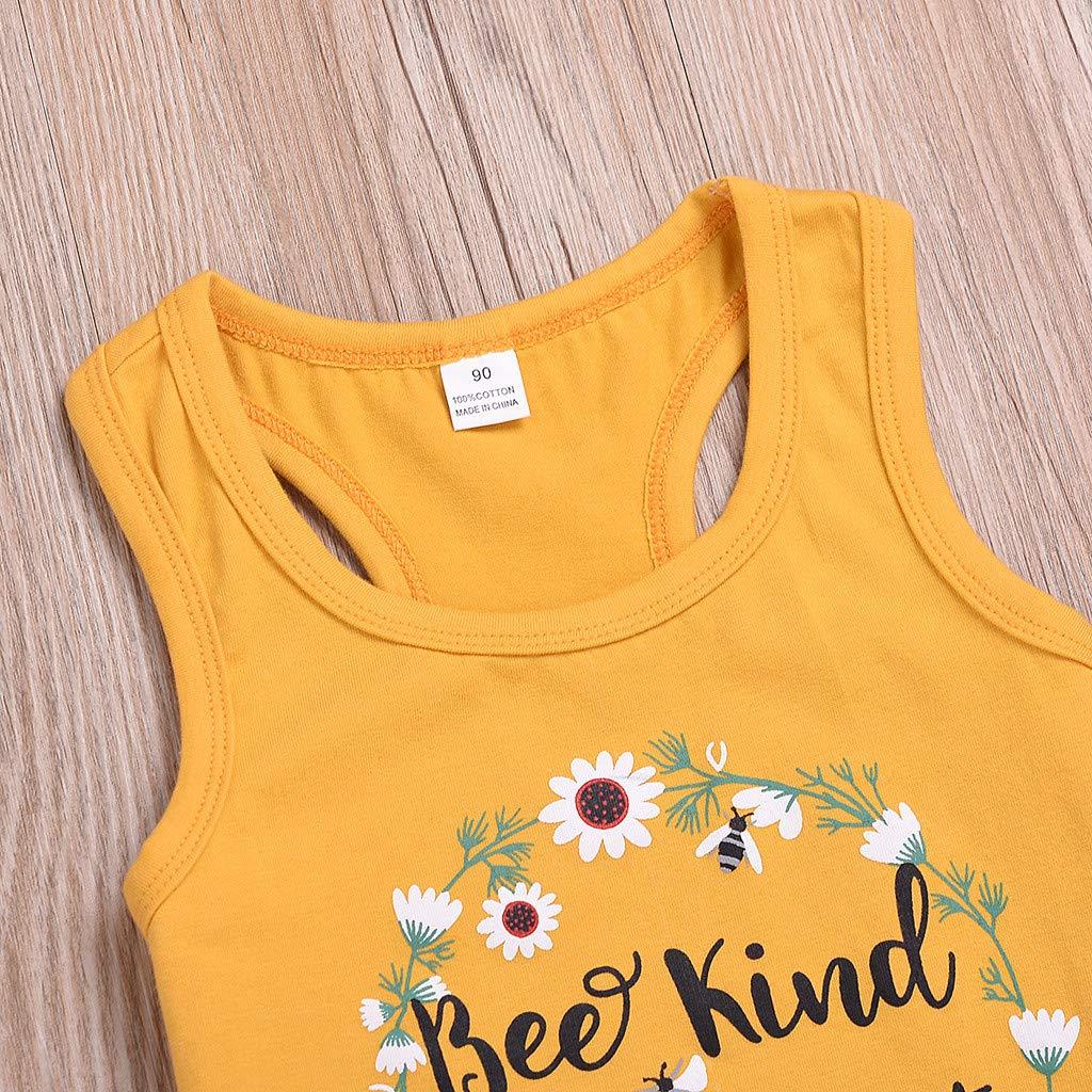 Sunflower Flower Denim Shorts Zweiteiliges Set Sommer Strand Outfits Babykleidung (0M-2Y) Alwayswin Kinder Baby Junge M/ädchen /Ärmelloses Weste Top Brief Drucken Biene Art T-Shirt