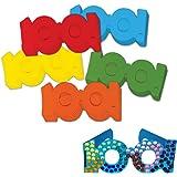 Chenille Kraft 100 Days Paper Glasses, 5 Colors, 25-Piece