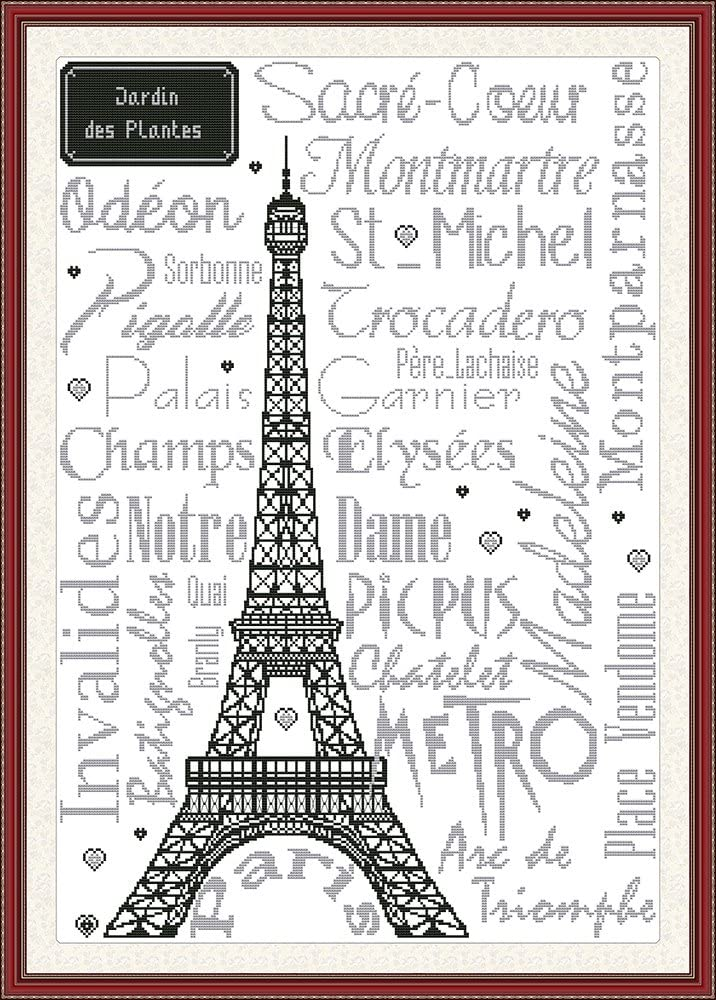 Eiffel Tower Stamped CaptainCrafts New Cross Stitch Kits Patterns Embroidery Kit
