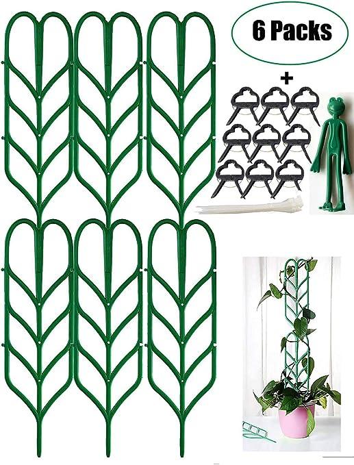Jashem Garden Trellis - 6 enrejados de plástico para plantas en ...