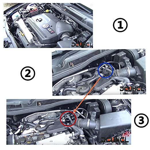 dewhel 25 mm 3 En 1 BOV Válvula de desecho de aluminio para Volkswagen Passat Beetle Bora Golf Jetta A3 A4 A6 TT 1.8T BOV Blow Off Válvula: Amazon.es: Coche ...