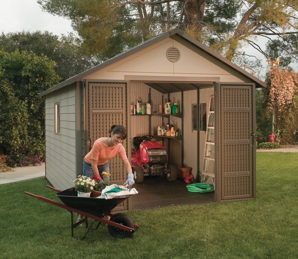 Amazon.com : Lifetime 6433 Outdoor Storage Shed Windows, 11 11 Feet :  Garden U0026 Outdoor